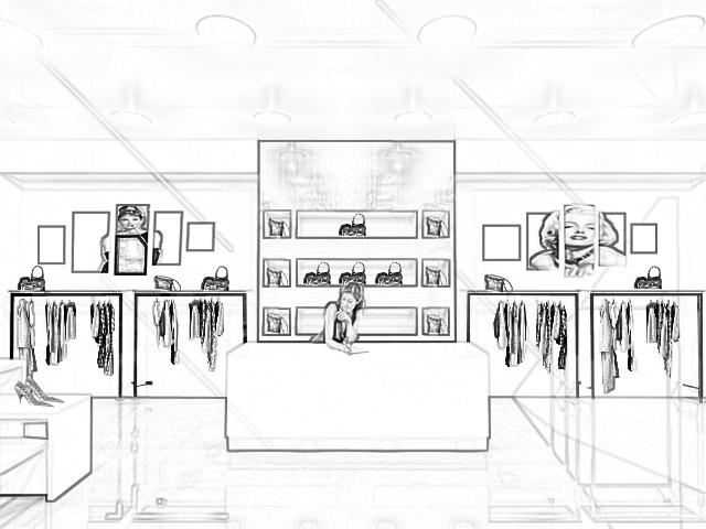 arredo negozi abbigliamento completo a 5300 euro